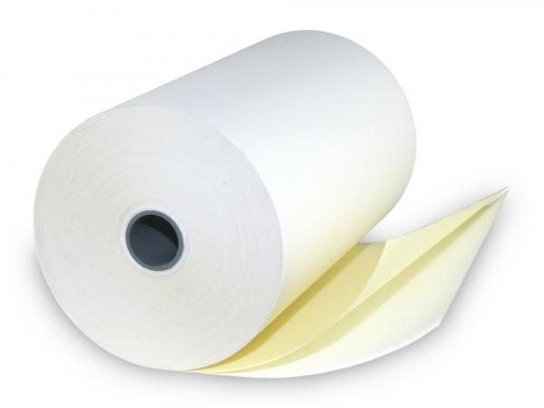 Bonrolle doppelt weiß / gelb 76/70/12 [25m] - holzfrei